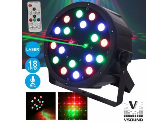 Projector LED/Projector LED PAR VSOUND VSPROJPL18LA