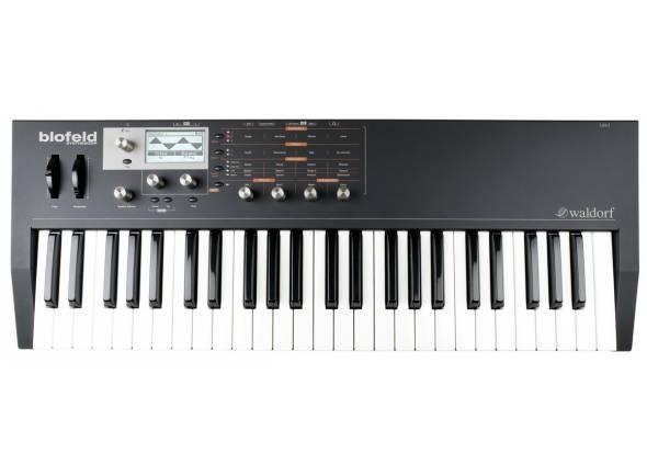 Waldorf Blofeld Keyboard Black   Sintetizador Profissional  Teclado de 49 teclas semi-pesadas  16 partes multi-tímbrico  Mais de 1000 sons  Excelente motor de áudio!