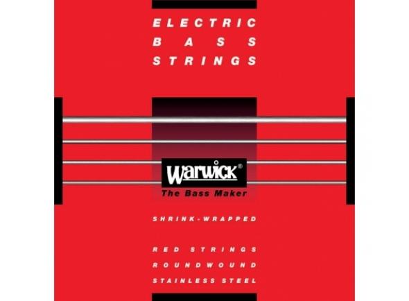 Jogo de 4 Cordas para Baixo Elétrico/Jogo de cordas .045 para baixo elétrico de 4 cordas Warwick 42200M Red Label