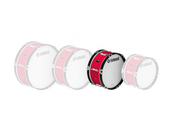 Bombos Yamaha Bombo de Marcha  MB2016 16'x07' Vermelho