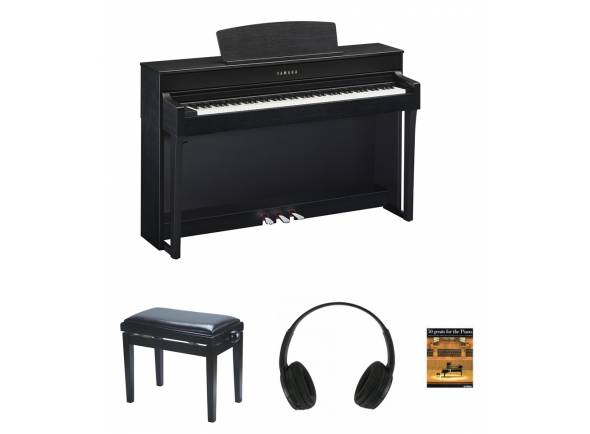 Piano Digital/Pianos Digitais de Móvel Yamaha CLP-645 B Pack