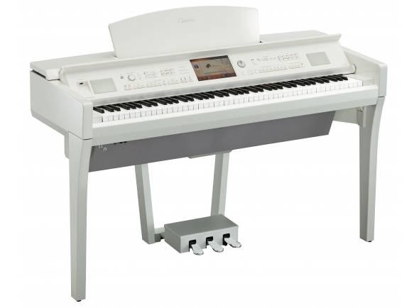 Pianos Digitais de Móvel Yamaha CVP-709 PWH