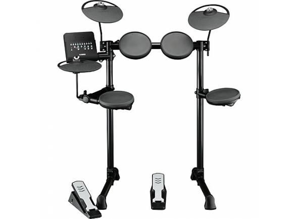Bateria Eletrónica Yamaha DTX400K Compact E-Drum Set  O DTX400K é perfeito para todas aquelas e aqueles que desejam aprender a tocar bateria.   Pads de Borracha   Pads: 9 (1x Bombo, 1x Tarola, 3x Timbalões, 2x Pratos, 1x Hi-Hat, 1x Controlador de Hi-Hat)    Sons: 169 (23 Tarolas, 21 Bombos, 36 Timbalões, 31 Pratos, 16 Hi-Hats, 42 Percussão)