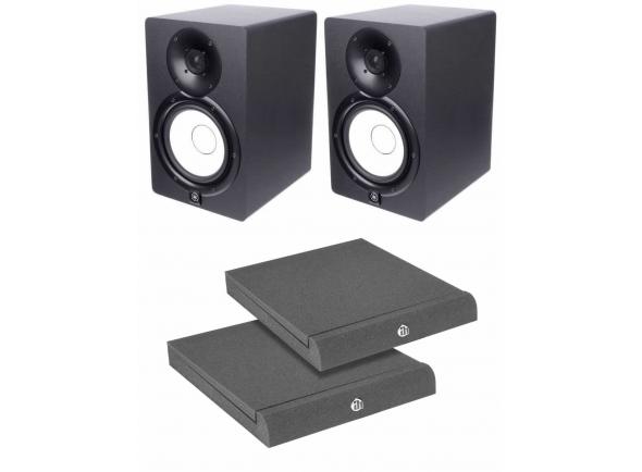 Monitores de estúdio activos Yamaha HS-7 Bundle