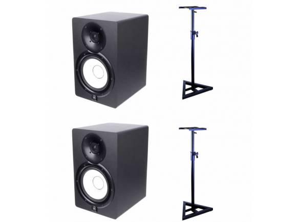 Monitores de estúdio activos Yamaha HS-7 Stand Bundle