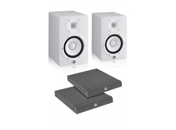 Monitores de estúdio activos Yamaha HS-7W Bundle
