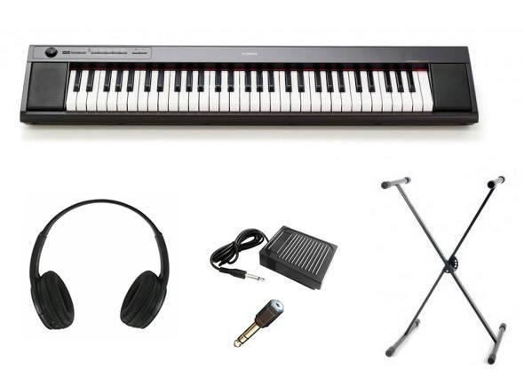 Pianos Digitais Portáteis  Yamaha NP-12 Black SET