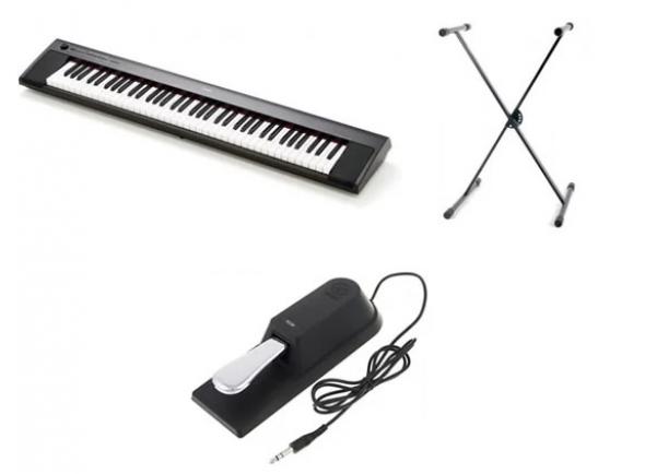 Pianos Digitais Portáteis  Yamaha NP-32 Piaggero Black Set