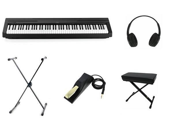 Pianos Digitais Portáteis  Yamaha P-45 B Mega Bundle