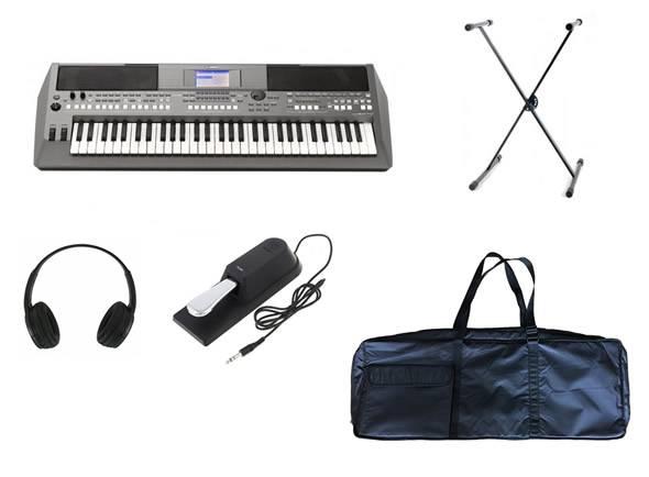 Teclado Yamaha PSR-S670 Deluxe SET  Deluxe Set Yamaha PSR-S670+ Headphones + Suporte + Pedal + Saco Teclado