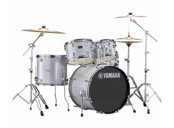 Conjunto de bateria completo Yamaha Rydeen Studio Silver Glitter
