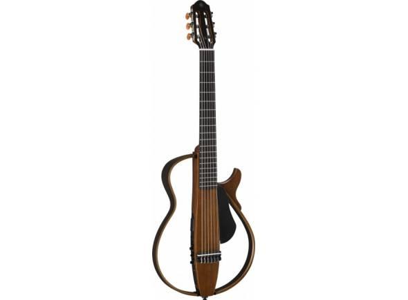 Guitarra Clássica (adulto) 4/4 Yamaha SLG-200N  Corpo: mogno  Pescoço: mogno  Moldura: Maple / Rosewood  Fretboard e ponte: Rosewood  19 Frets  Escala: 650 mm  Largura da porca: 50 mm  Espaçamento entre cordas: 11,5 mm  Pickups Piezo SRT  SRT mic modeling preamp system (Neumann U67)  Controles: Power, Master Volume, AUX em volume, graves, agudos, sintonizadores, Blend & Smooth Control Effects (Reverb 1, Reverb 2, Chorus)  Peso: 2,1 kg  Acabamento: Matte natural  Soft bag, auscultadores intra-auriculares e 2 pilhas AA incluídas