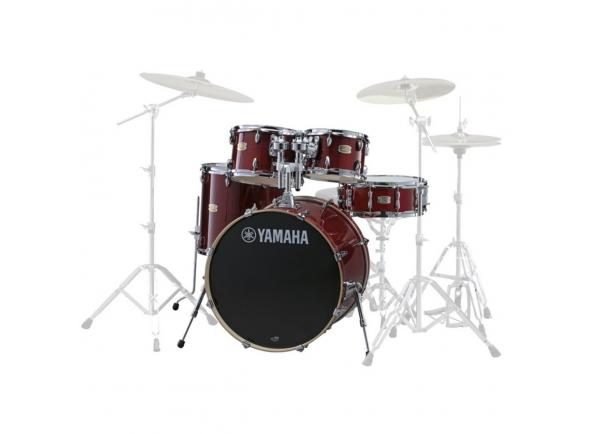 Conjuntos de bateria sem ferragens Yamaha Stage Custom Birch Cranberry Red sem Hardware