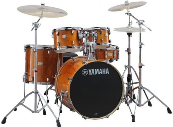 Conjuntos de bateria com ferragens sem pratos Yamaha Stage Custom Birch Honey Amber com Hardware sem Pratos