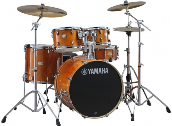 Conjunto de bateria completo Yamaha Stage Custom Birch Honey Amber Completa