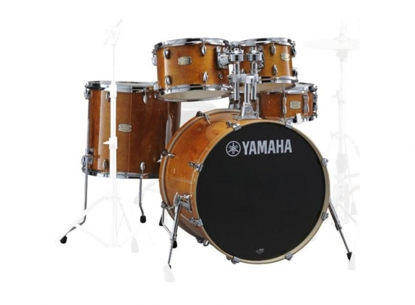 Conjuntos de bateria sem ferragens Yamaha Stage Custom Birch Honey Amber sem Hardware