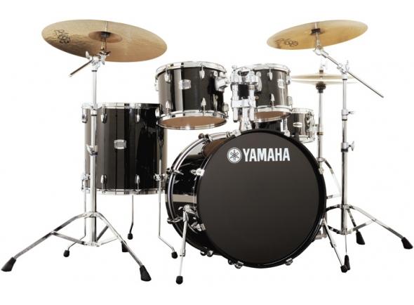 Conjunto de bateria completo Yamaha Stage Custom Birch Raven Black Completa