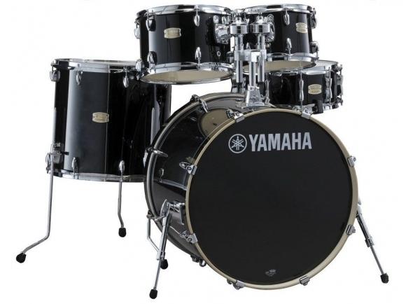 Conjuntos de bateria sem ferragens Yamaha Stage Custom Birch Raven Black sem Hardware