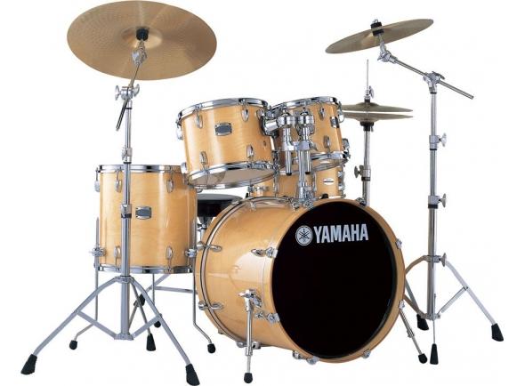 Conjunto de bateria completo Yamaha Stage Custom Birch SBP2F5 Natural Wood Completa