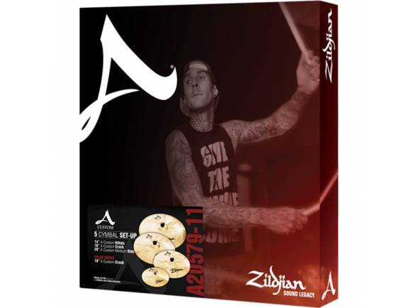 Conjunto de Pratos Zildjian A20579 -11 A Custom Box Set