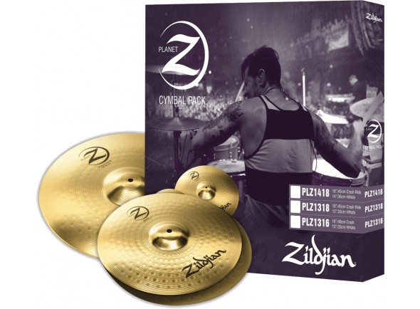 Conjunto de Pratos Zildjian PLZ1418 Planet Z Cymbal Set