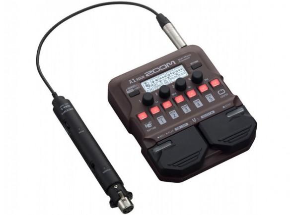 Pedal multi-efeitos/Efeitos para guitarra acústica Zoom A1 Four Acoustic FX Pedal