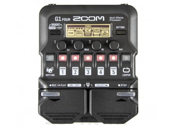 Pedaleiras para guitarra elétrica Zoom G1 Four Multi-Effect-Pedal